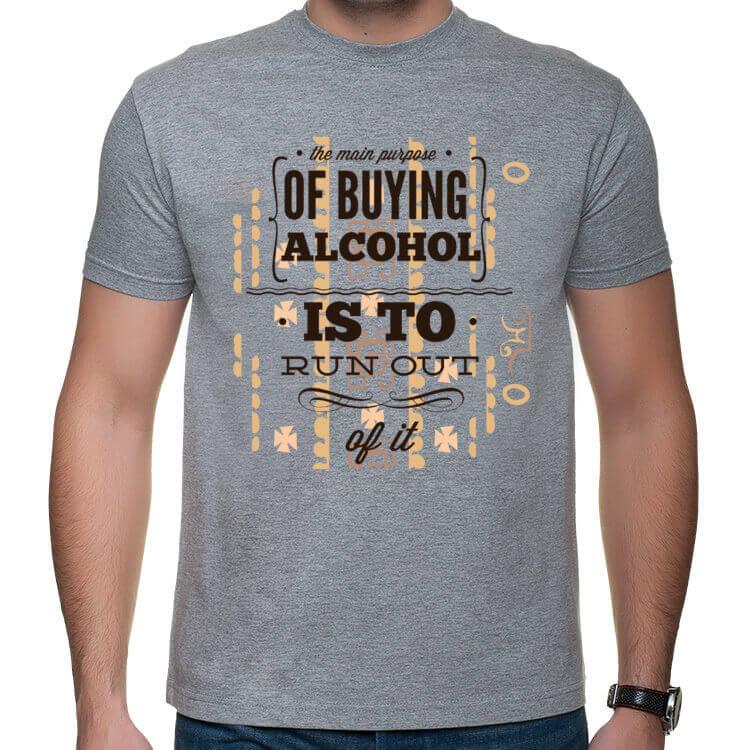 Koszulka męska Buying alcohol