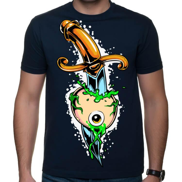 Koszulka męska z przebitym okiem