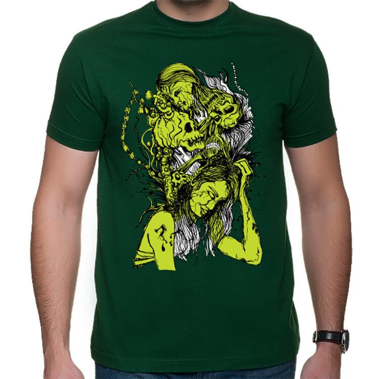 Koszulka męska Zielona abstrakcja
