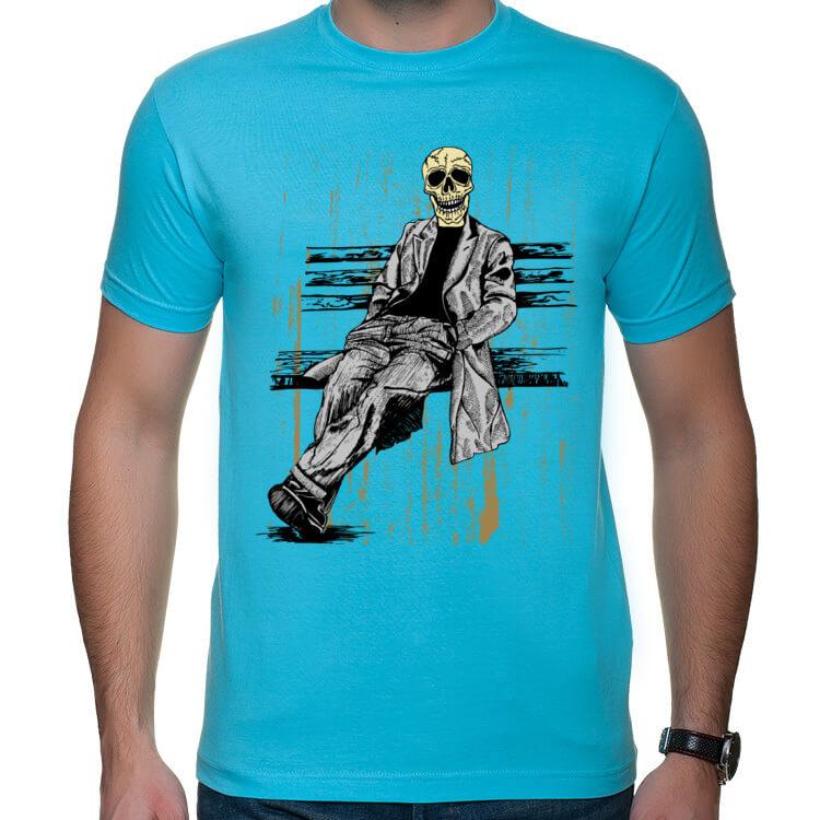 Koszulka męska Hipster na ławce