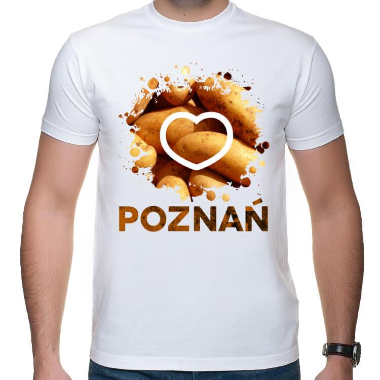 Koszulka męska Koszulka I love Poznań i pyry