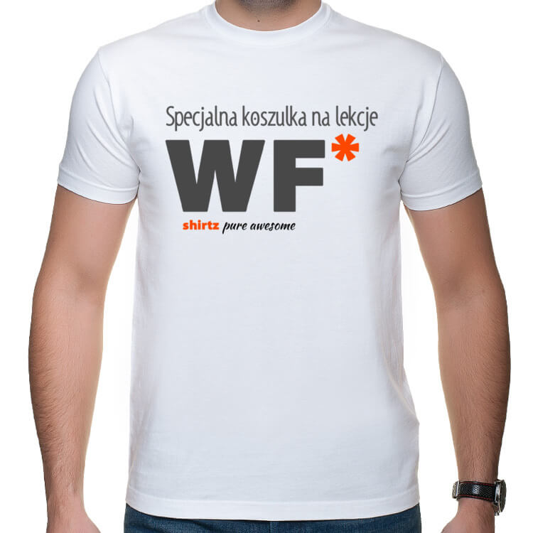 Męska koszulka na lekcje WF
