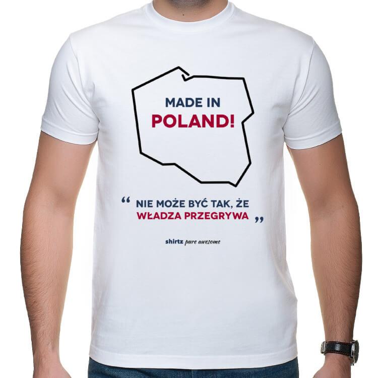 T-shirt męski Nie może być tak, że władza przegrywa