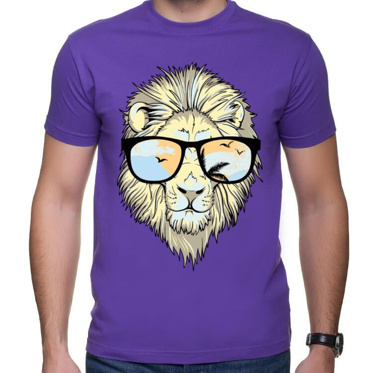 Koszulka męska Lew hipster
