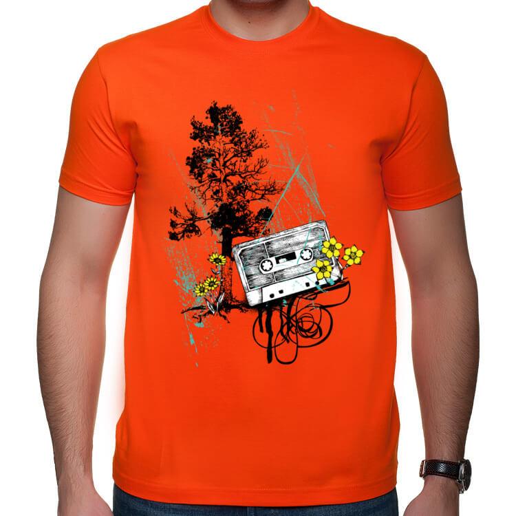 Koszulka Stara kaseta magnetofonowa