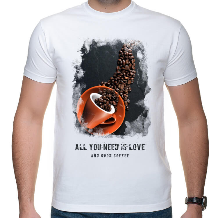 T-shirt Wszystko czego Ci potrzeba to dobra kawa