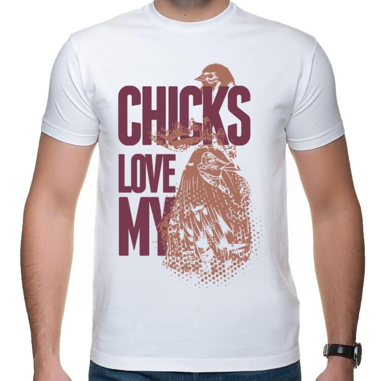 Koszulka Laski kochają mojego ptaka