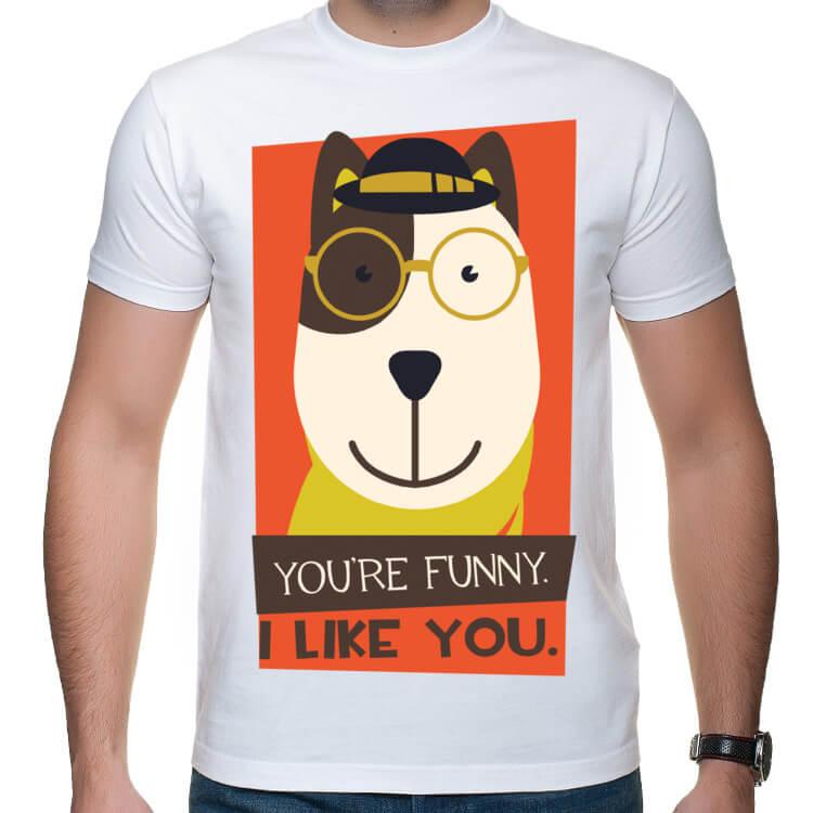 Koszulka męska You're funny. I like you.