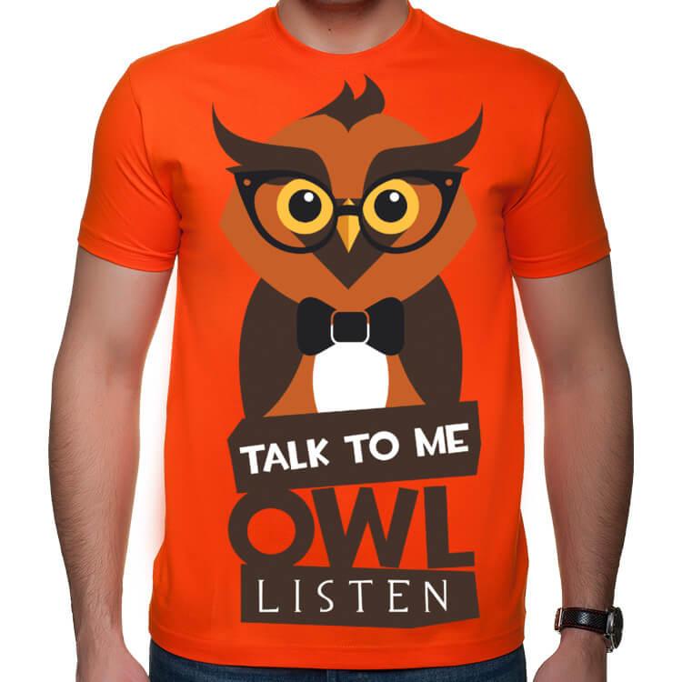 Koszulka Talk to me, owl listen