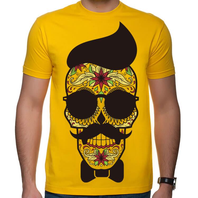 Koszulka Hipster Sugar Skull