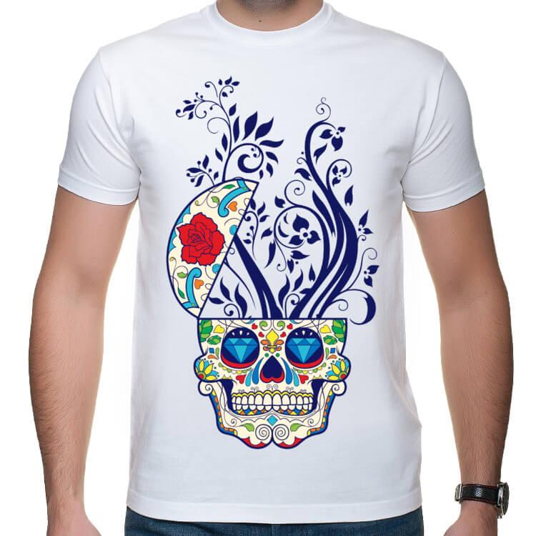 Koszulka Hipster Skull