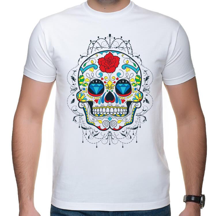 Koszulka Sugar Skull - Outline