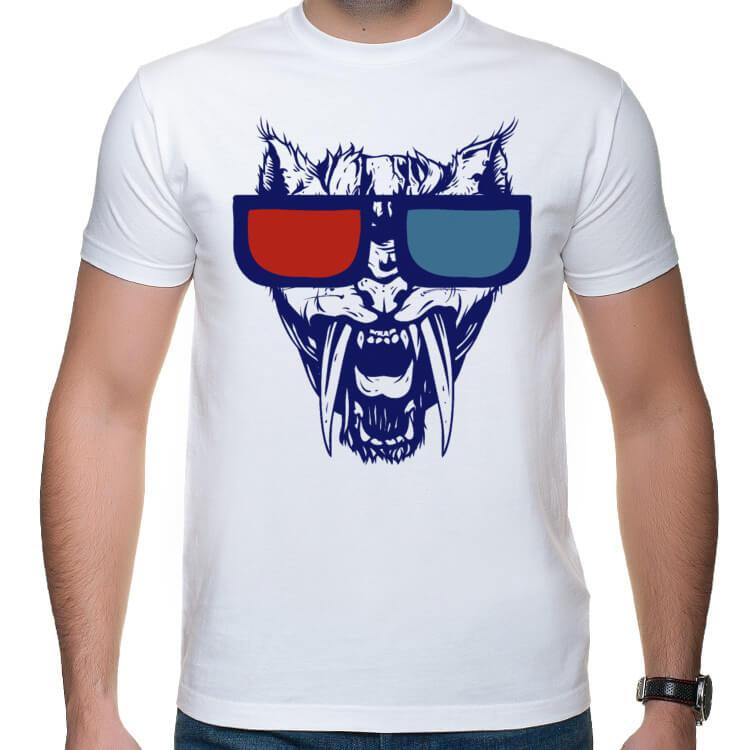 Koszulka męska Hipster tiger