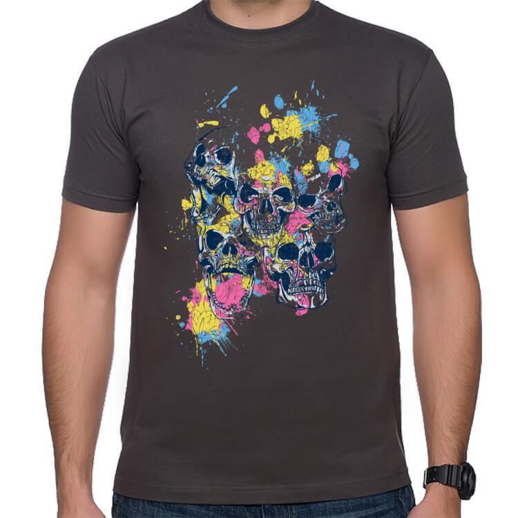 Koszulka męska Szalone czaszki