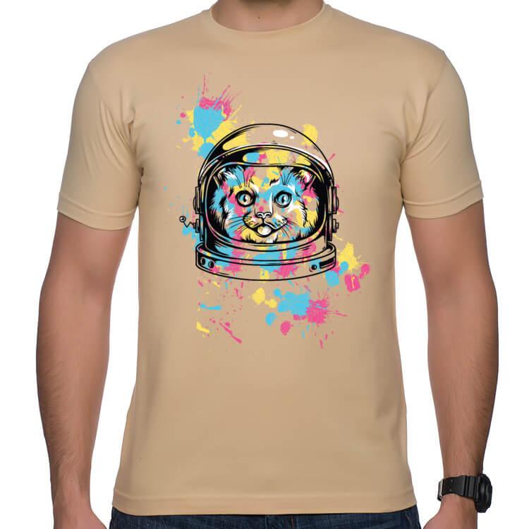 Koszulka męska Kosmiczny kot