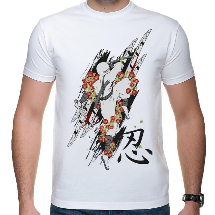 Koszulka męska Kwiatowy ninja
