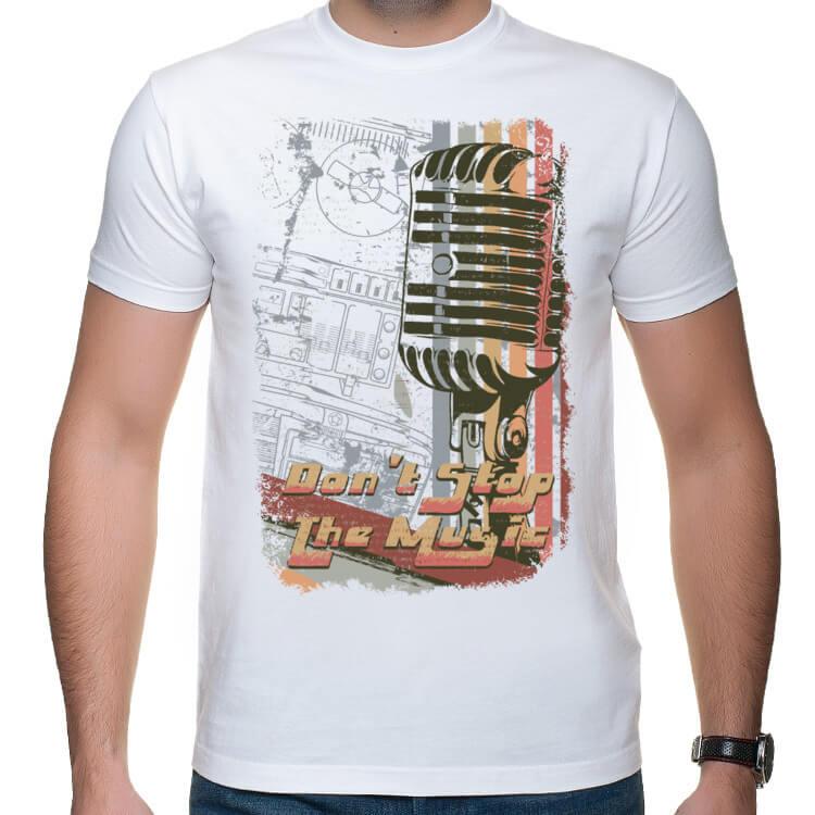 Muzyczna koszulka z mikrofonem