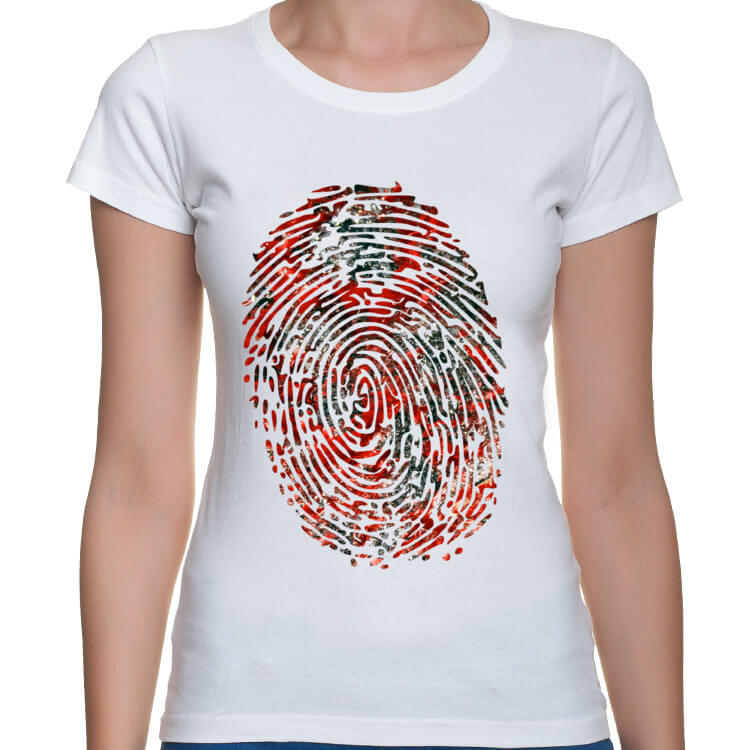 Koszulka damska Krwawy odcisk palca