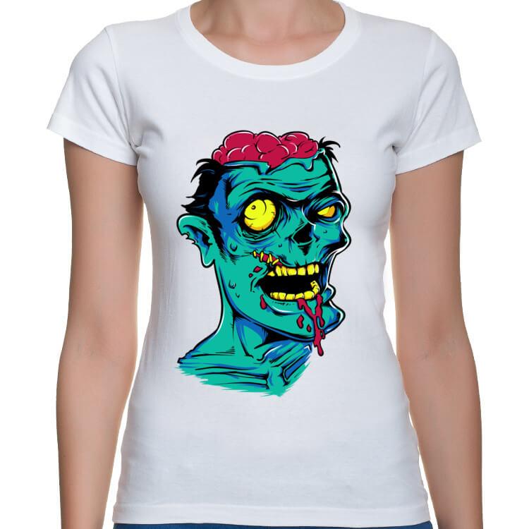Koszulka damska Green zombie