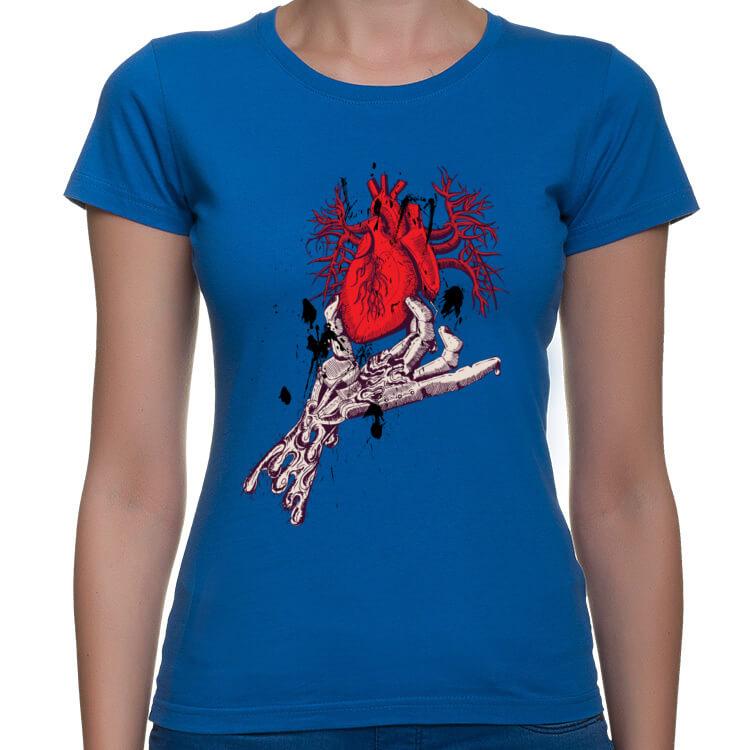 Koszulka damska Serce na dłoni