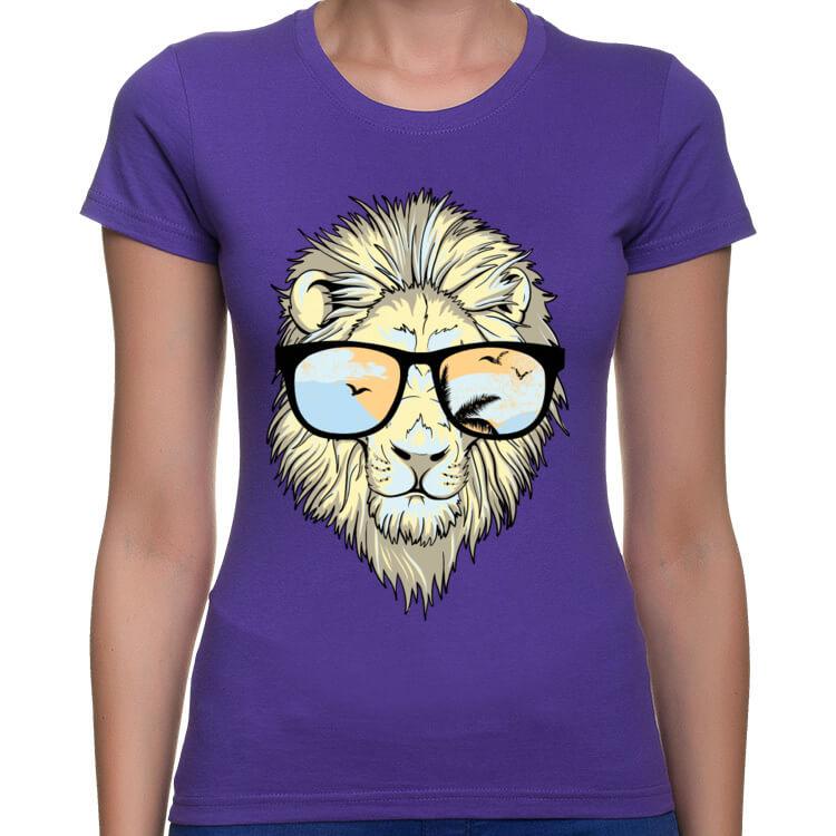 Koszulka damska Hipster Lion
