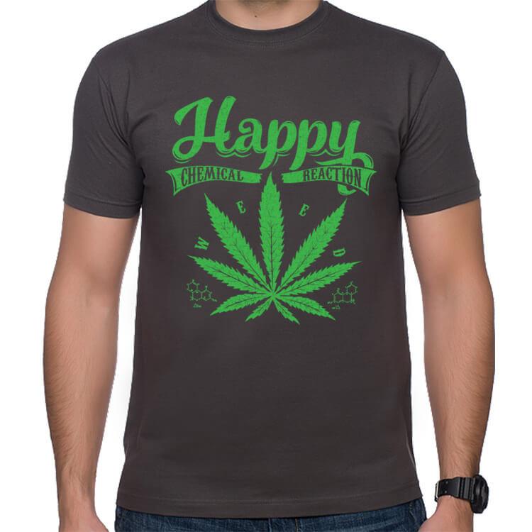 Koszulka z liściem marihuany
