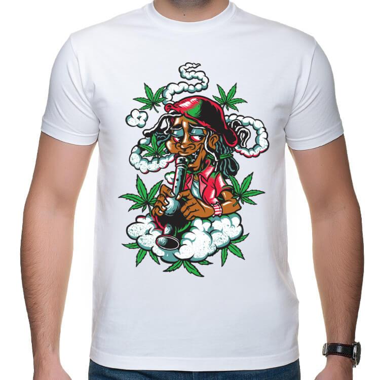 Koszulka Jamajczyk palący faję