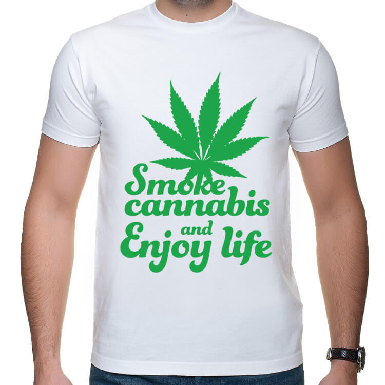 Koszulka Smoke cannabis and enjoy life