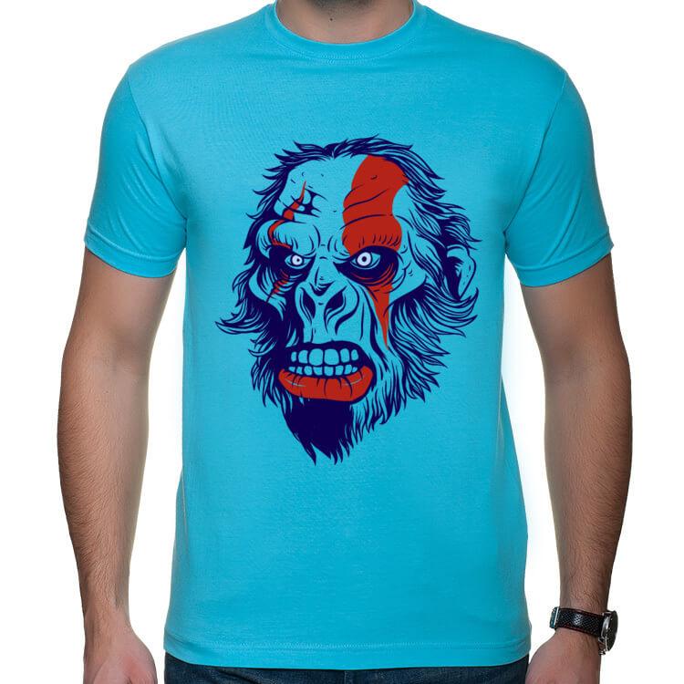 Koszulka z wściekłym małpoludem