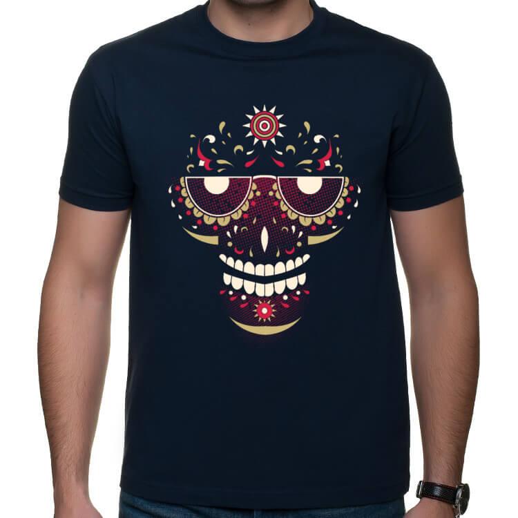 Koszulka ze słoneczną czaszką
