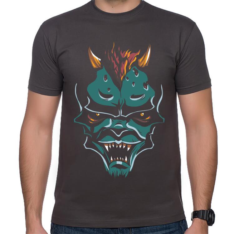 Koszulka z zielonym potworem