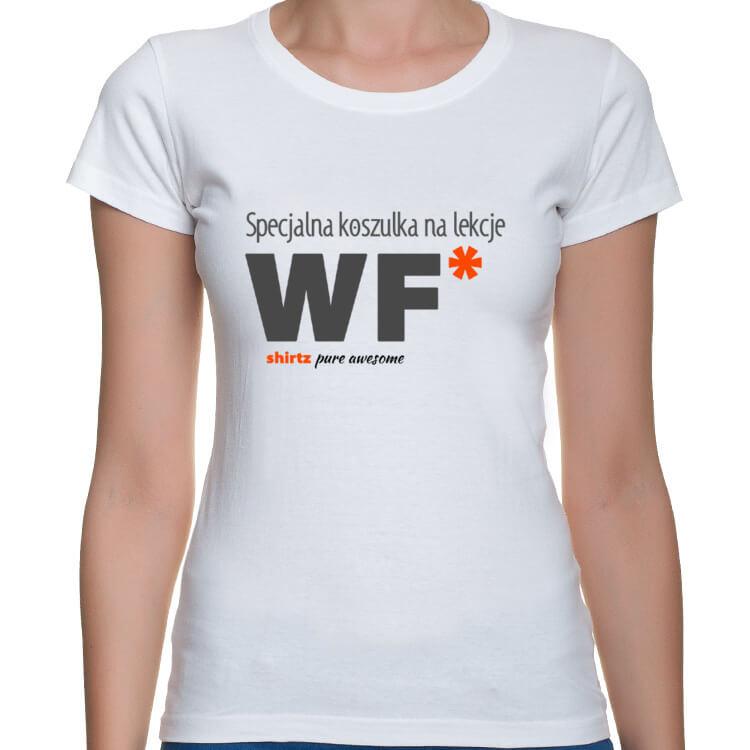 Damska koszulka na lekcje WF
