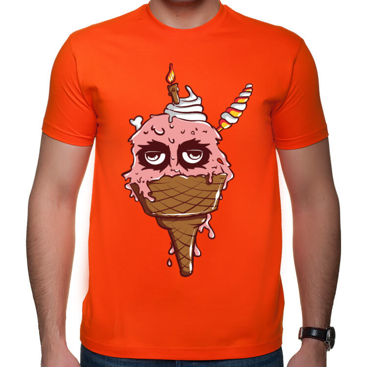 Koszulka z brudnym lodem