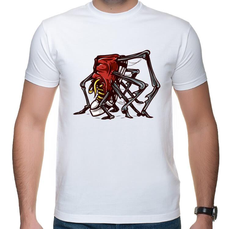 Koszulka z butem pająkiem