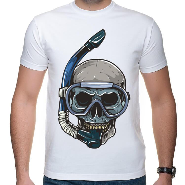 Koszulka Czaszkonurek pływak