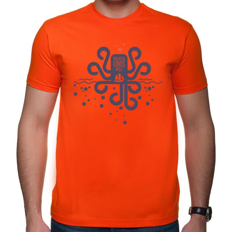 Koszulka Kraken kocha łodzie