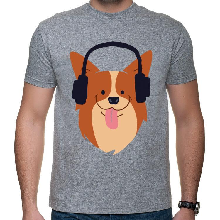 Koszulka Pies w słuchawkach