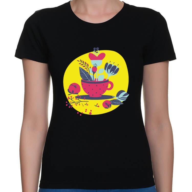 Koszulka Wazon z kwiatami