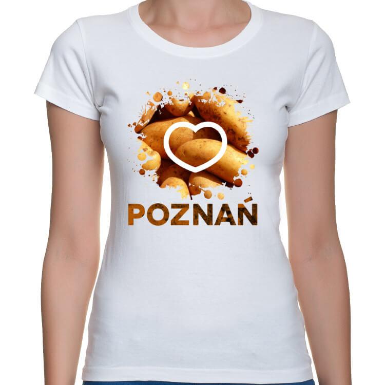Koszulka damska I love Poznań i pyry