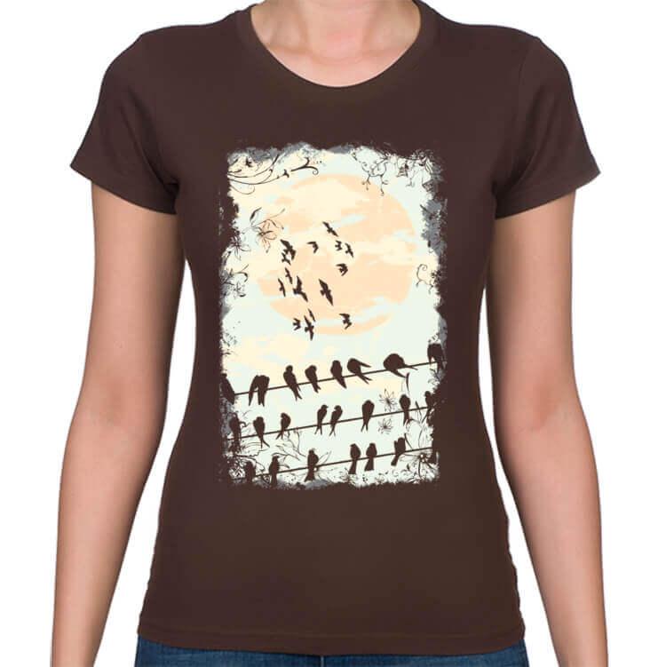 Koszulka damska Ptasie melodie