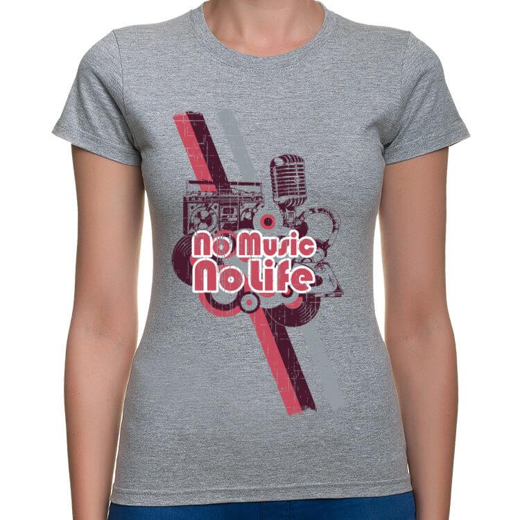 Koszulka damska No music no life