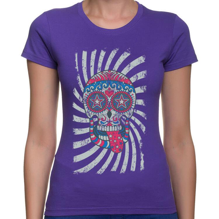 Koszulka damska Wesoła cukierkowa czaszka