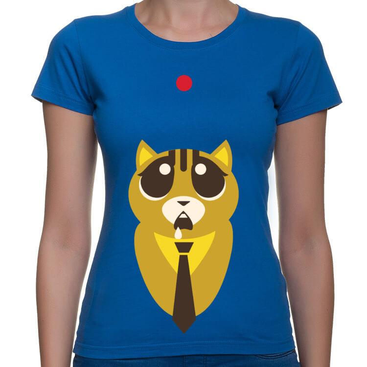 Koszulka damska z kotem