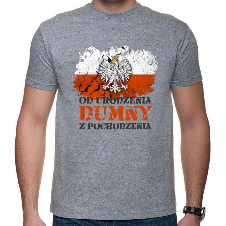 Koszulka Od urodzenia dumny z pochodzenia - jasna