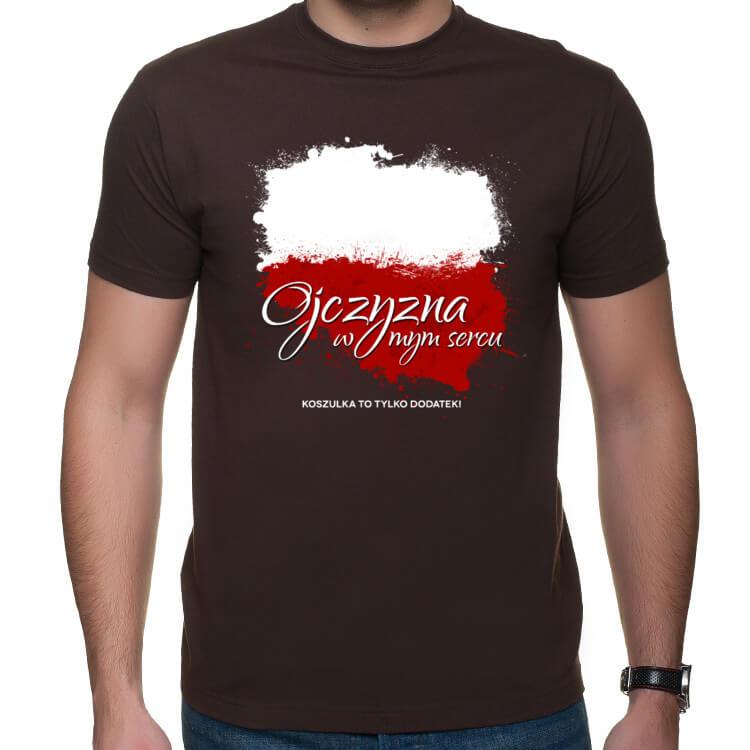 Koszulka Ojczyzna w mym sercu - koszulka to tylko dodatek
