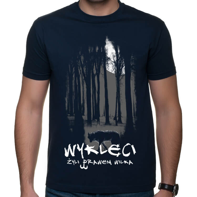Koszulka WYKLĘCI - Żyli prawem wilka