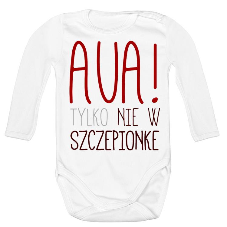 Body dziecięce Aua, tylko nie w szczepionkę