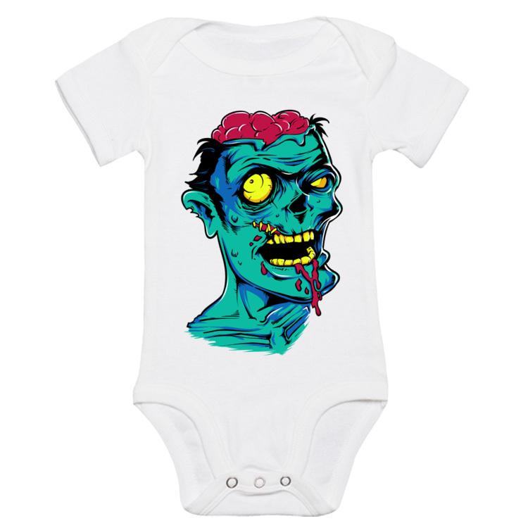 Dziecięce body z zielonym Zombie