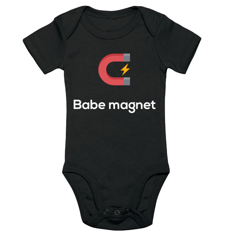 Body dziecięce ze śmiesznym nadrukiem - magnes na babki