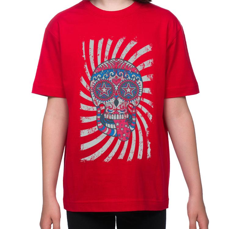 Koszulka dziecięca z wesołą czaszką